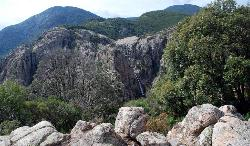 Panoramic view of the falls of Piscin'Irgas